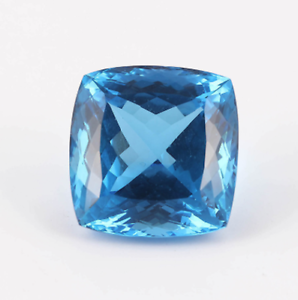 Natural Bright Blue Swiss Blue Topaz AAA Cushion Loose Gemstones 5x5mm-10x10mm