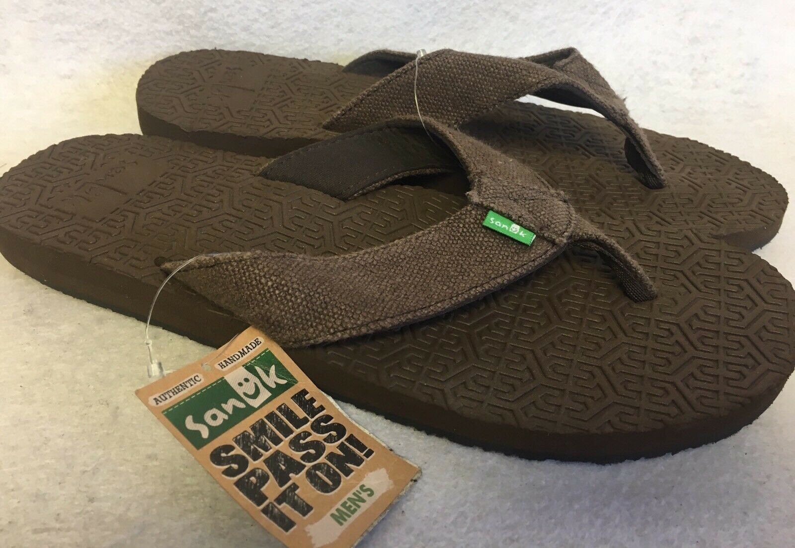 SANUK Flip Flops OG SQUOOSH BROWN Men's Flip Flop Thong Sandal shoes Comfort