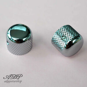 2x-Boutons-Metal-Gotoh-ShortDome-Knobs-19x16mm-6mmSplitShaft-Pots-MK-3150-CHROME