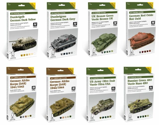 Vallejo - Airbrush Modelling Panzer Tank Painting Set