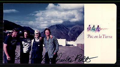 G 9712 Seien Sie In Geldangelegenheiten Schlau Paz En La Tierra Autogrammkarte Original Signiert 80er Jahre 6442