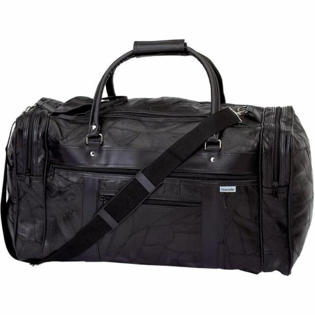Genuine Leather 21 Carry On Duffle Bag Italian Overnight Luggage Suitcase Tote