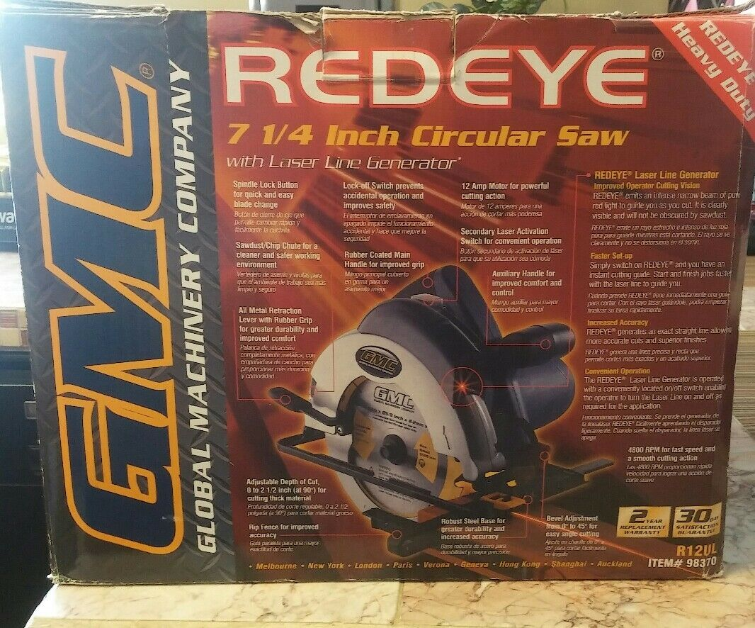 Carte But Retractation.Gmc R12ul 7 1 4 Red Eye Laser Guided Circular Saw 12 Amp For Sale