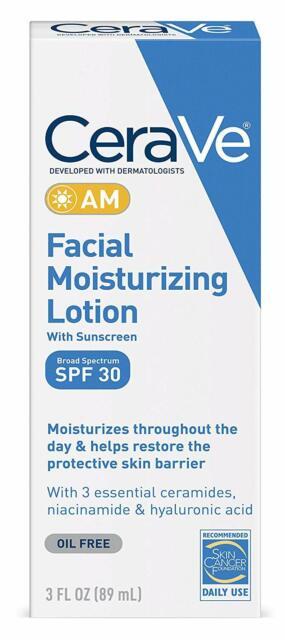 2 Pack Cerave Día Tiempo Facial Loción Hidratante Am SPF 30 89ml Cada