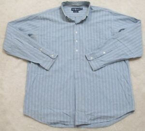 Ralph-Lauren-Afton-Pocket-Dress-Shirt-Long-Sleeve-XL-Cotton-Blue-White-Men-039-s-Top