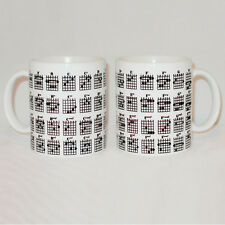Guitar Chord Chart Mug Can Be Personalised Handy Guitarist Music Musician Gift