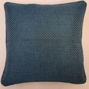 TEAL-PEACOCK-BLUE-MODERN-WEAVE-WOVEN-LUXURY-PIPED-18-034-CUSHION-COVER-5-95-EACH