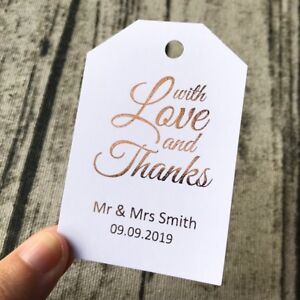 20 Gold Foil Personalized Thank You