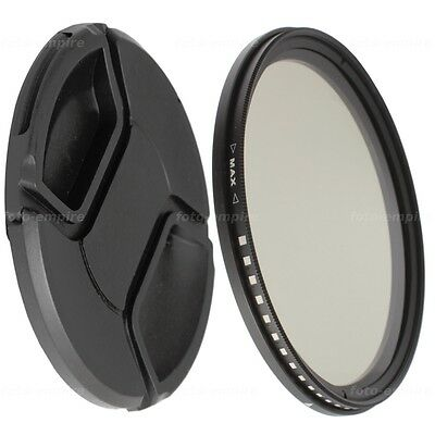 49mm Fader ND variable filtro gris nd2-nd400 /& 52 mm objetivamente tapa lens cap