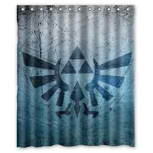 "New Triforce Legend of Zelda Custom Shower Curtain 60"" x ..."