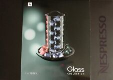 Nespresso Totem Capsule Dispenser Glass Collection Coffee Capsules Holder Gift