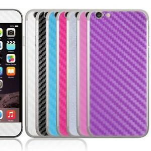 Vinyl-Decal-Skin-For-iPhone-6-6S-PLUS-Carbon-Fibre-Style-Sticker-Front-amp-Back