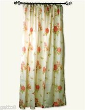 Floral Fabric Shower Curtain PINK ROSES 72x72 FEMININE Chic Shabby ROMANTIC New