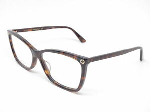 New Authentic Gucci GG0025O 002 Havana GG 0025O Eyewear Eyeglasses ... 94e160388f1