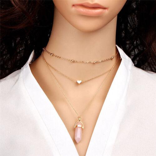 1pcs Women/'s Jewerly Alloy Choker Bib Statement Collar Pendant Chain Necklace