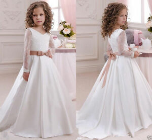 2016 robe de communion princesse fille mariage robe demoiselle d honneur enfant ebay. Black Bedroom Furniture Sets. Home Design Ideas