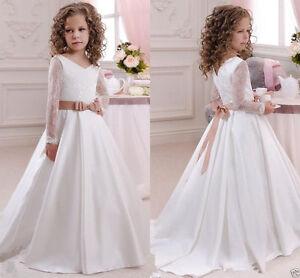 2016 robe de communion princesse fille mariage robe for Robes de demoiselle d honneur pour les mariages de novembre
