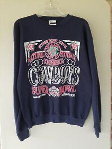 Vintage Buffalo Bills Dallas Cowboys Super Bowl XXVII Sweatshirt 90s Large
