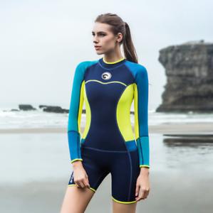 Women Lady 1.5mm Short Diving Suits Free Dive Swim Scuba Jump Surfing  Wetsuits