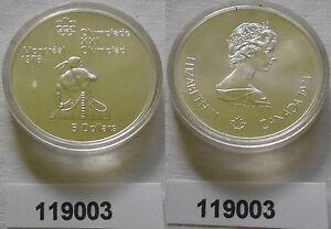 5 Dollar Silber Münze Canada Kanada Olympiade Montreal Indianer 1974