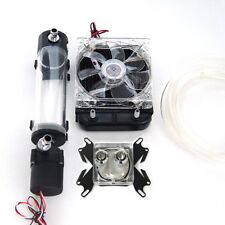 Water Cooling Kit Radiator CPU Block Pump Reservoir Tubing Tank LED Fan Heatsink