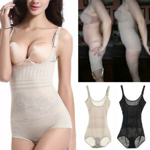 b835bb4c15c Image is loading Women-Full-Body-Shaper-Underbust-Tummy-Control-Slimming-
