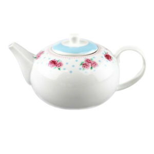 Tea-Pot-Porcelain-1-Litre-Afternoon-Tea-Style-Party-Tableware-Vintage-Rose-Mugs
