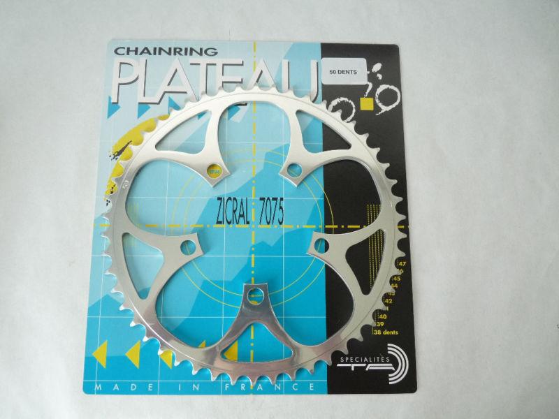 T.A. 50T Dispositivo De Control De Flotabilidad PLATO 94 50 dientes TA3 32  Vintage carreras de carretera Bicicleta nuevo viejo Stock