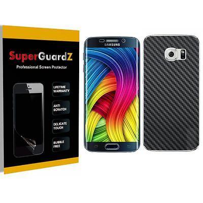 4X FULL BODY Screen Protector Shield + Carbon Fiber Film Samsung Galaxy S6 Edge