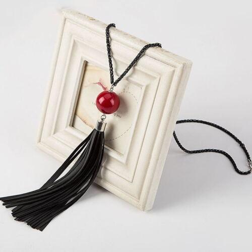 Mode féminine Lady bijoux Pendentif Statement Chaîne Longue Tassel Sweater Collier