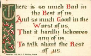 Arts-Crafts-Worst-Best-Saying-Sheahan-1908-Postcard-Artist-Impression-6649