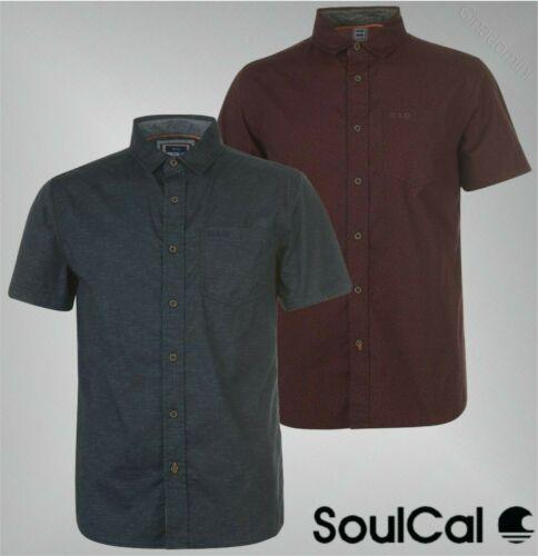 Homme SOULCAL à Manches Courtes Texturé Top All Over Print T Shirt Tailles S à XXXL