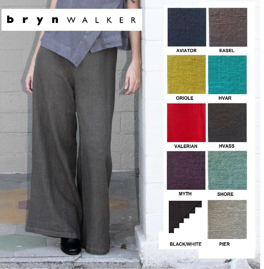 BRYN WALKER Heavy Linen  LONG FULL PANT  Wide Leg Palazzo  1X 2X 3X  SPRING 2018