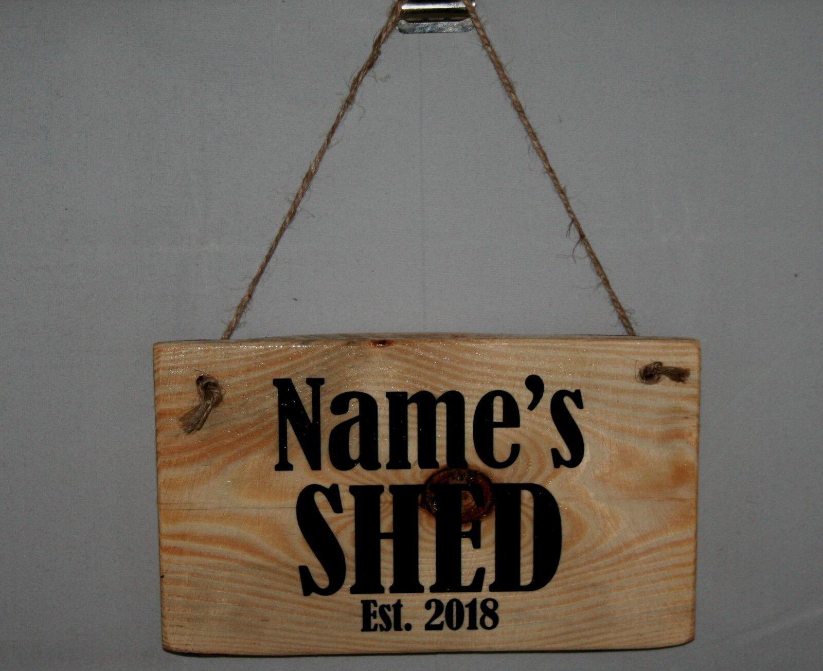 Outdoor Shed Sign Plaque Daddy Est. 2021 Dad Hanging Door Shop Hide Grandad