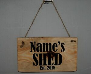 Dads Shed Sign Hanging Plaque
