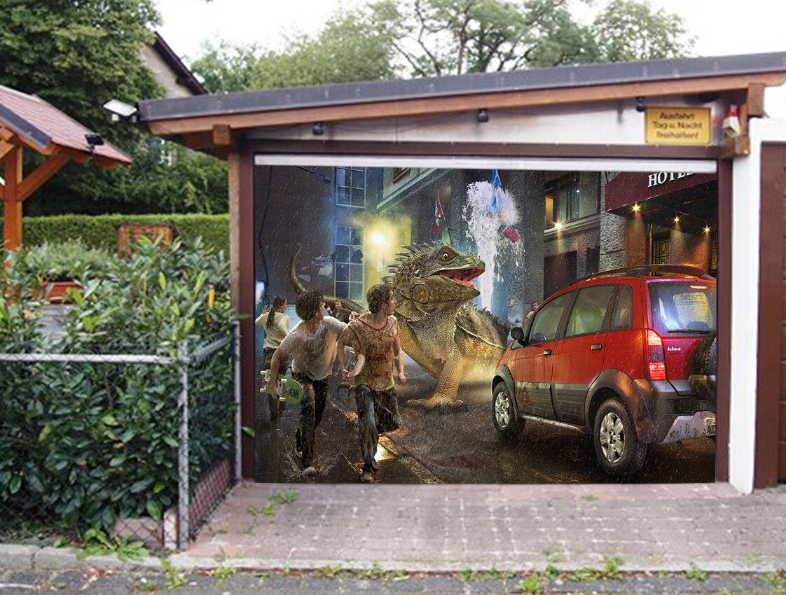 3D Mostri Città 68 Garage Porta Stampe Parete Decorazione Murale AJ WALLPAPER IT