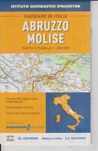 Cartina Stradale Abruzzo Molise.Carta Stradale 1 250 000 Abruzzo Molise De Agostini Autostrade Per L Italia Ebay
