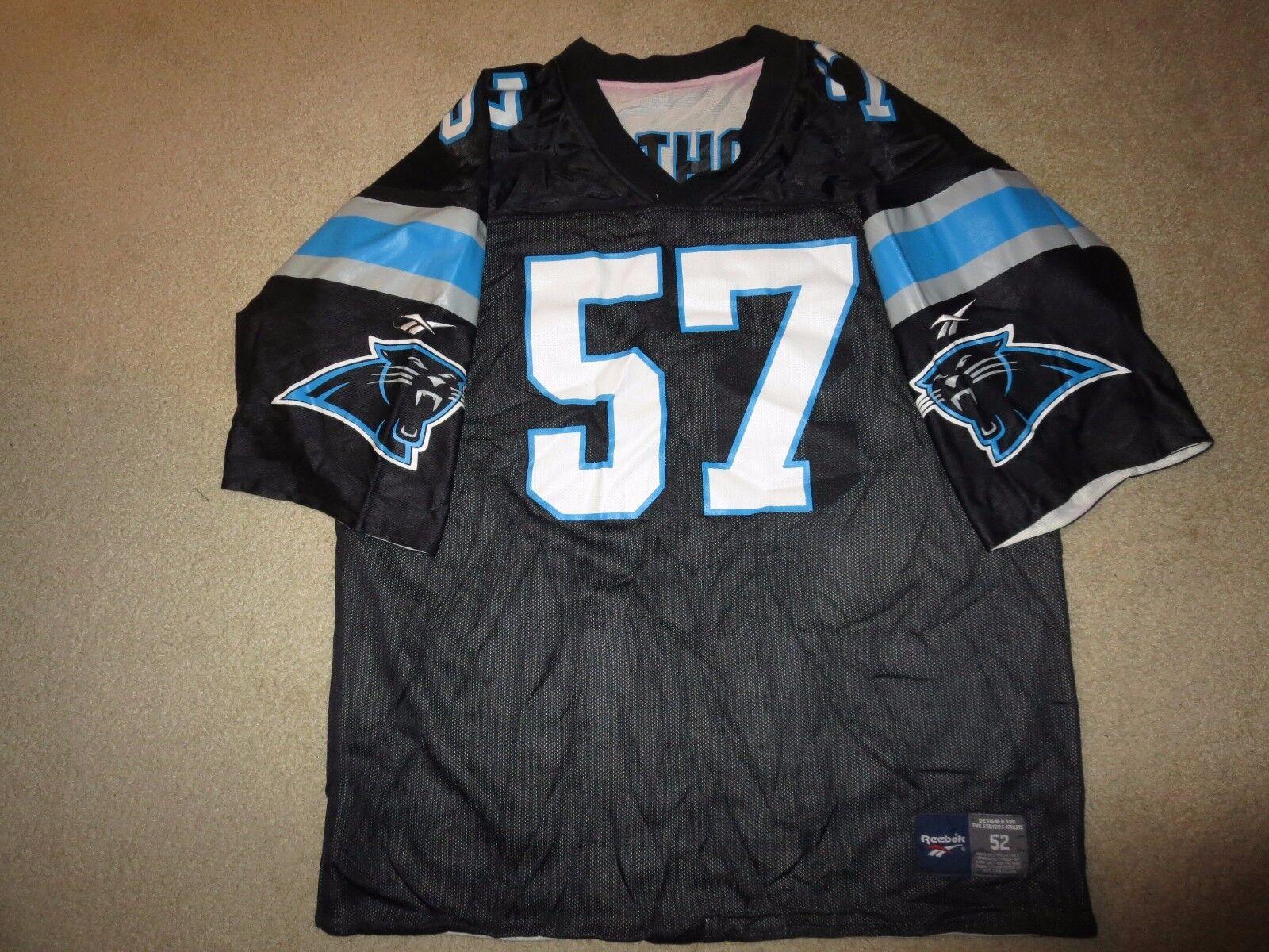 Carolina Panthers  57 Lathon NFL Negro Reebok Camiseta 52 XL
