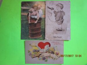 3-Vintage-1912-Used-Postcards-1