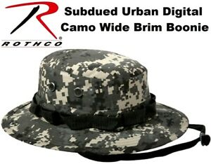 040074f07f4 Image is loading Subdued-Urban-Digital-Camouflage-Military-Tactical-Wide- Bucket-