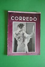 RIVISTA D'EPOCA CORREDO N.5/1933 MODA MAGLIERIA RICAMO UNCINETTO BIANCHERIA