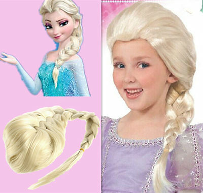 Anime Wavy Curly Frozen ice Romance Aisha Princess Kids Adult Cosplay Hair Wig D