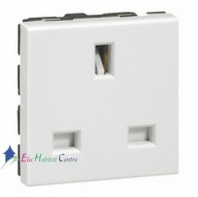 13amp 2 gang prises double blanc switched wall sockets avec 2 vis
