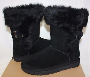 4e947478e2b UGG Women's Deena Black Suede boots New With Box! | eBay