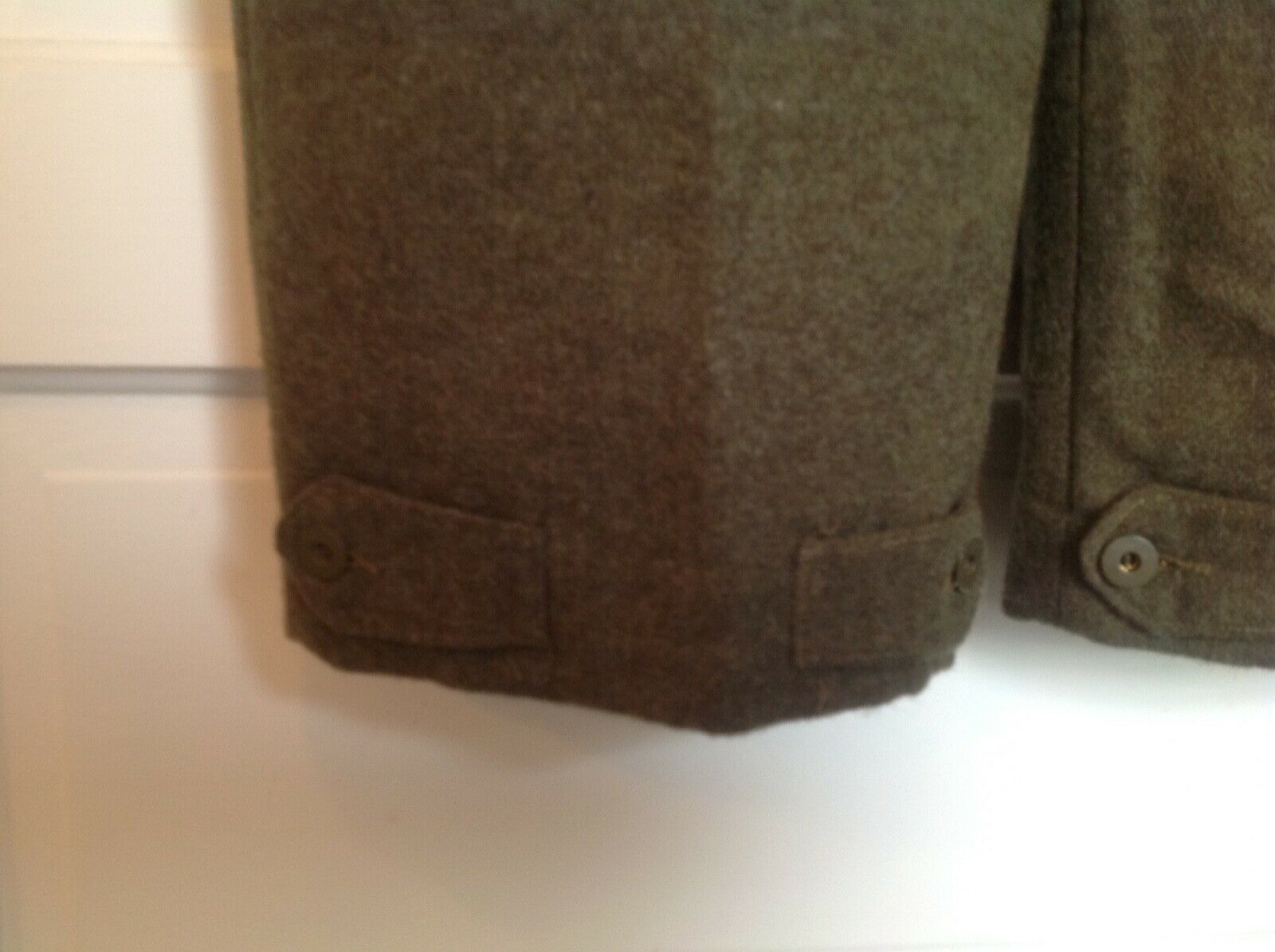 Vintage 1955 Canadian Olive Green Wool Military B… - image 5