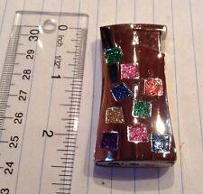 Rainbow glitter butane refillable lighter