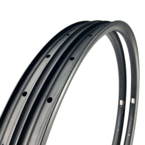 """SALE 35mm wide Carbon 27.5/"""" MTB Mountain Clincher Bike Rim Hooked Tubeless 1PAIR"""