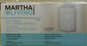 "Martha Stewart Living Skylands 10-in Linear Sconce ""NEW"" FREE SHIPPING"