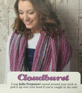 KNITTING-PATTERN-Ladies-Striped-Snood-Scarf-Winter-Accessory-Debbie-Bliss-Chunky