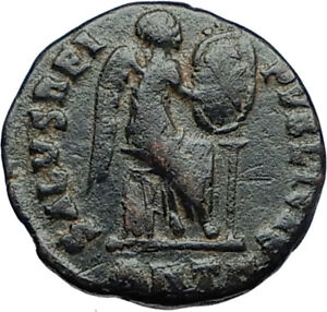 EUDOXIA-Arcadius-Wife-401AD-Authentic-Ancient-Roman-Coin-VICTORY-CHI-RHO-i69936